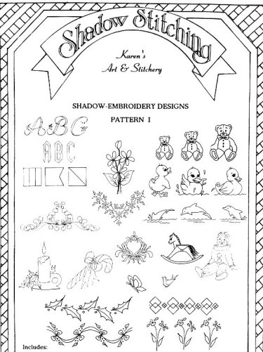 Shadow embroidery designs pattern i dt1010fo