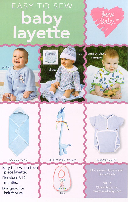 Layette Basics Pattern - Baby Clothes Patterns, Cloth Diaper