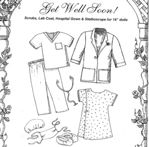 PDF Sewing Pattern Child Hospital Gown by MyMagicMom on Etsy