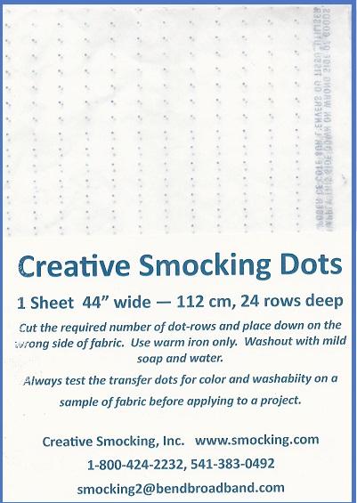 blue 3  8 u0026quot  smocking dots 1 sheet 24 rows  44 u0026quot  wide